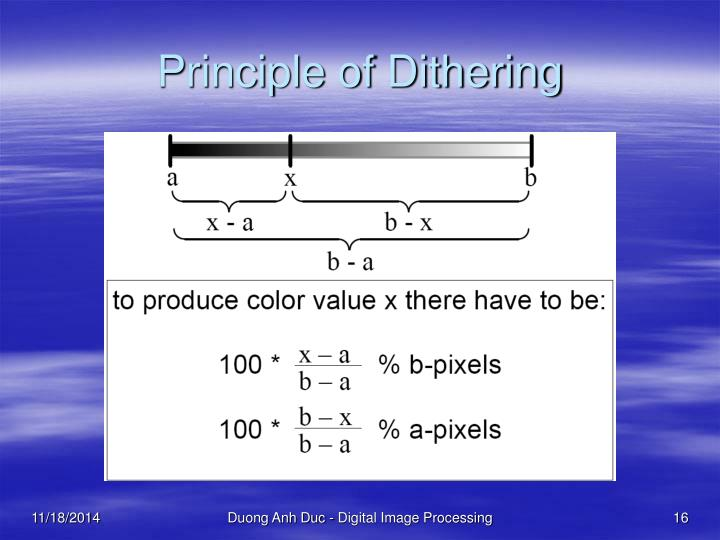 Principle of Dithering