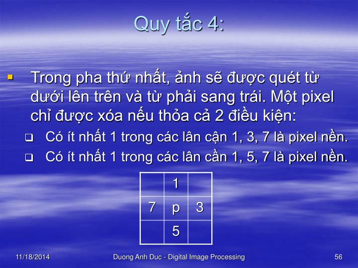 Quy tắc 4: