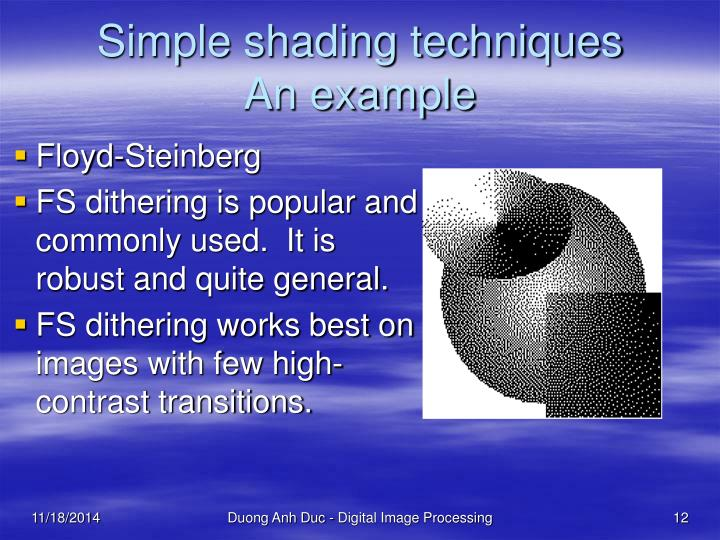 Simple shading techniques