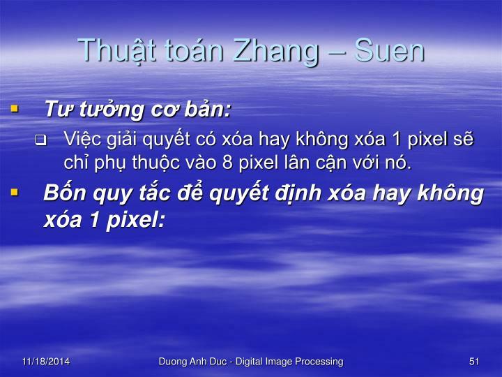 Thuật toán Zhang – Suen