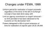 changes under fema 1999