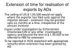 extension of time for realisation of exports by ads1