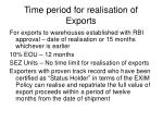 time period for realisation of exports1