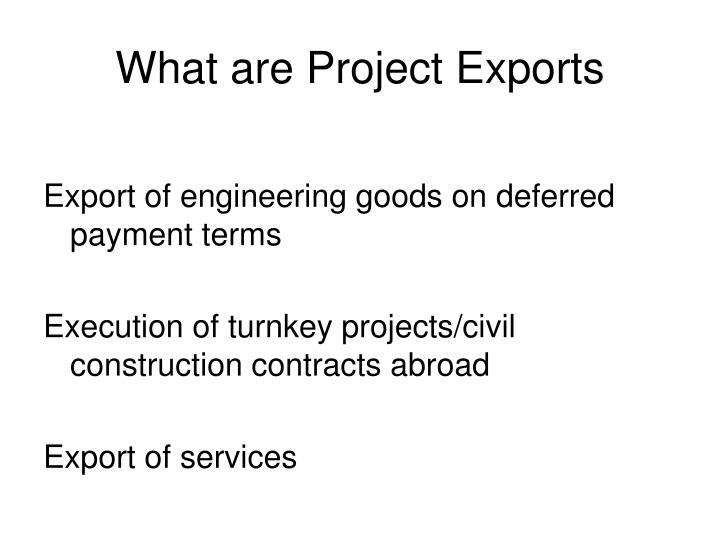 What are Project Exports