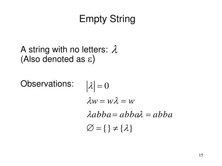 Empty String