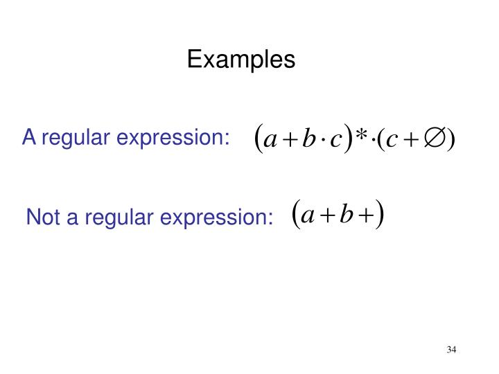 A regular expression: