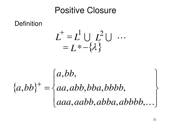 Positive Closure