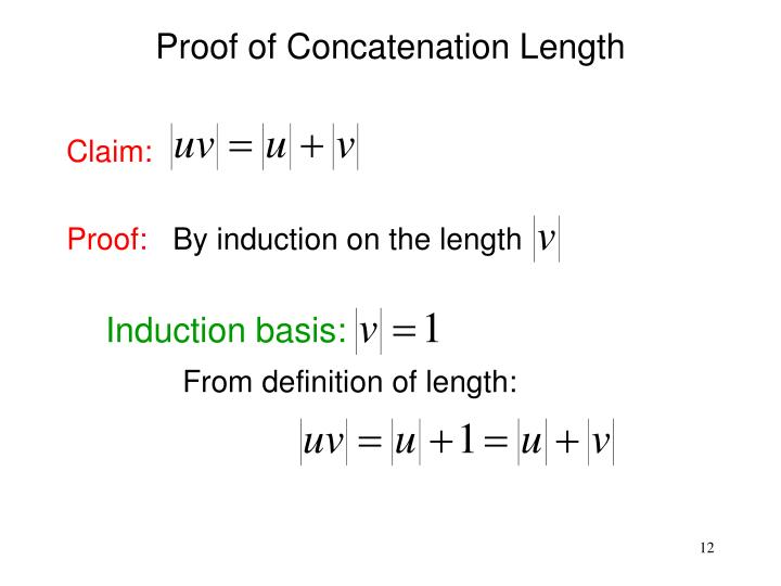 Proof of Concatenation Length