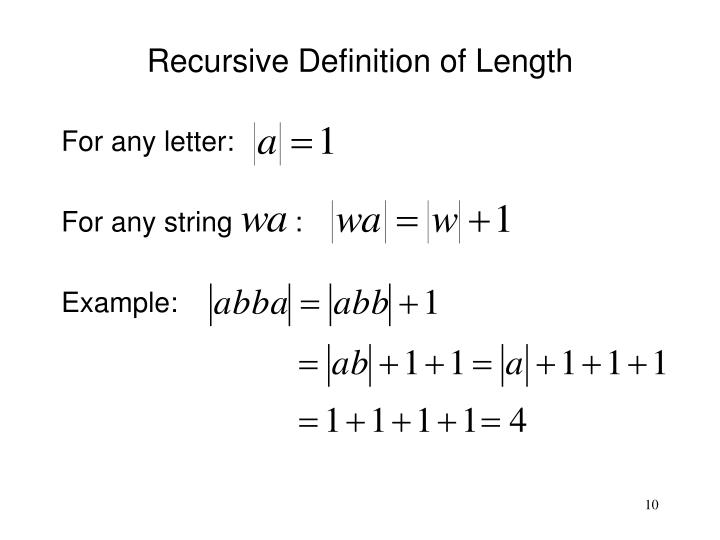Recursive Definition of Length