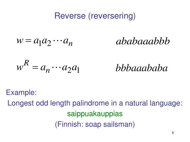 Reverse (reversering)