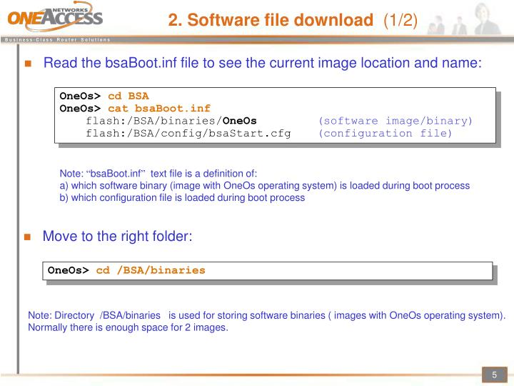 2. Software file download