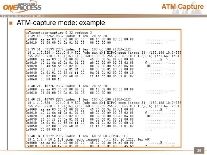 ATM Capture