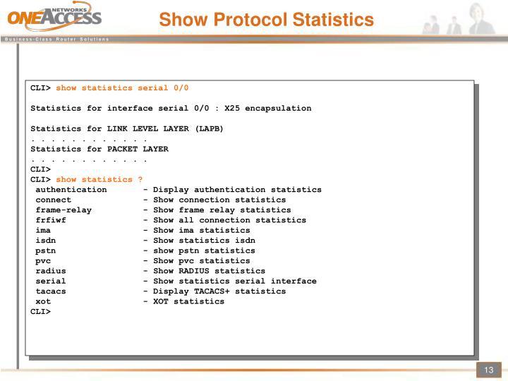 Show Protocol Statistics