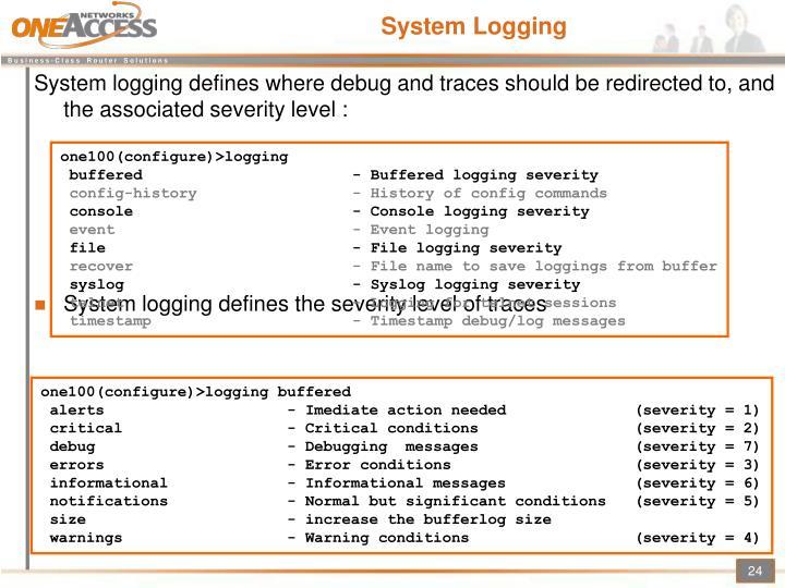 System Logging