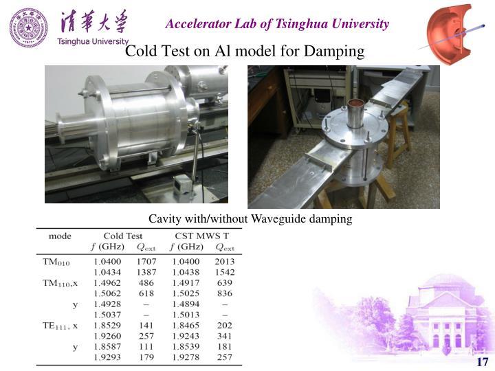 Cold Test on Al model for Damping