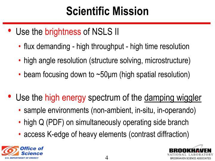 Scientific Mission