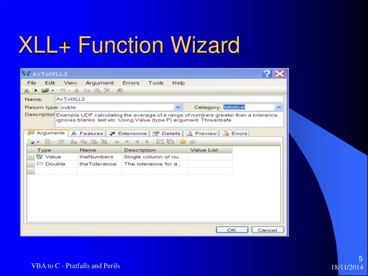 XLL+ Function Wizard