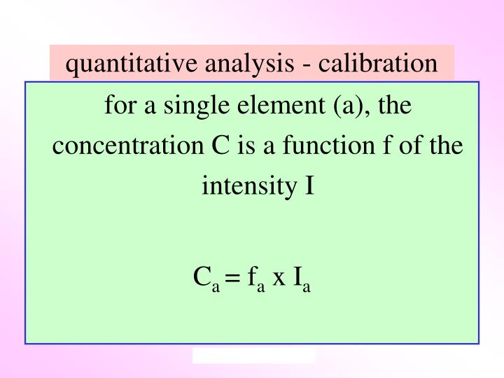 quantitative analysis - calibration