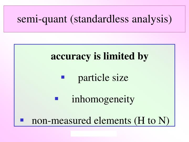 semi-quant (standardless analysis)