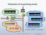 federation of cooperating clouds
