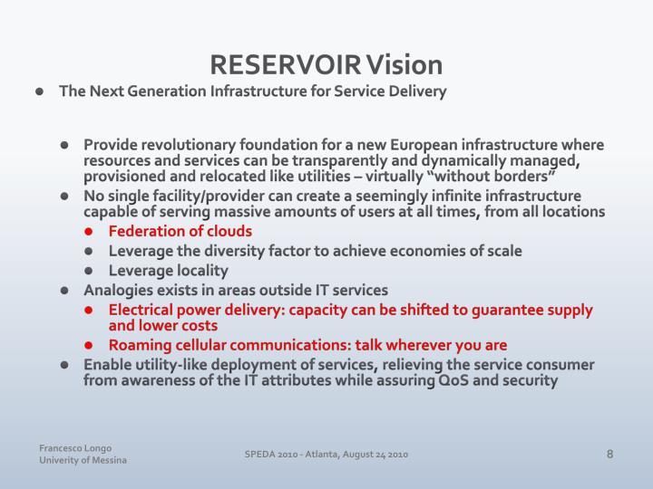 RESERVOIR Vision