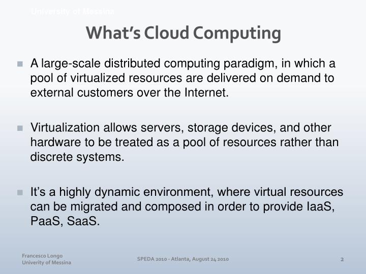 What s cloud computing