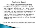 evidence based practice recommendations