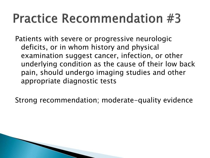 Practice Recommendation #3