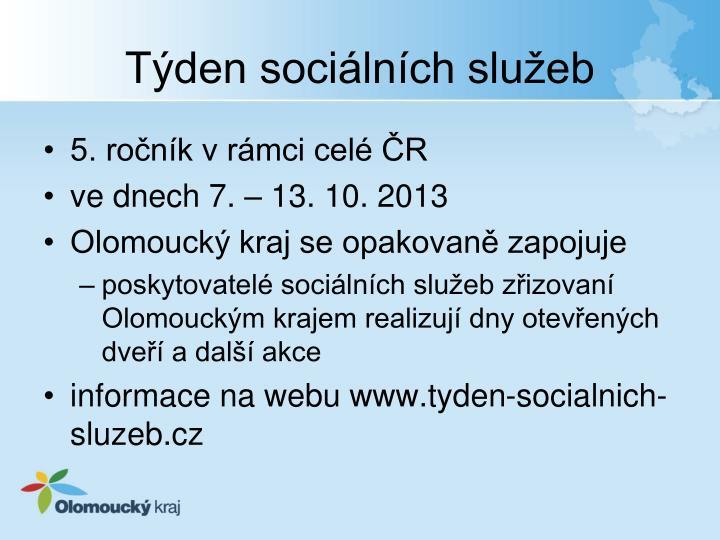 Týden sociálních služeb