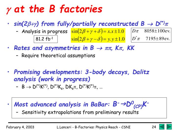  at the B factories