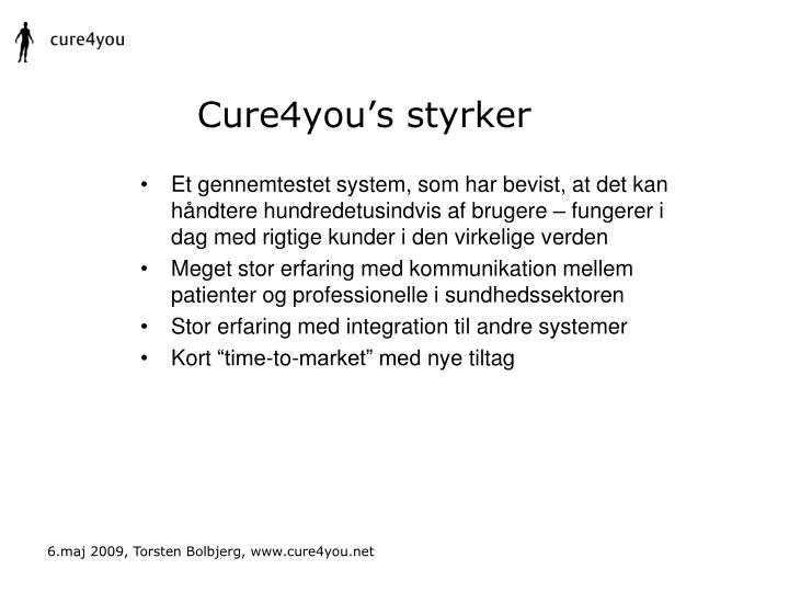 Cure4you's styrker