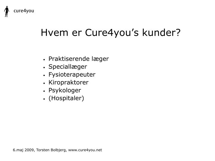 Hvem er Cure4you's kunder?