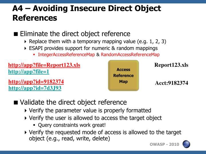 A4 – Avoiding Insecure Direct Object References