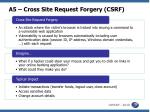 a5 cross site request forgery csrf