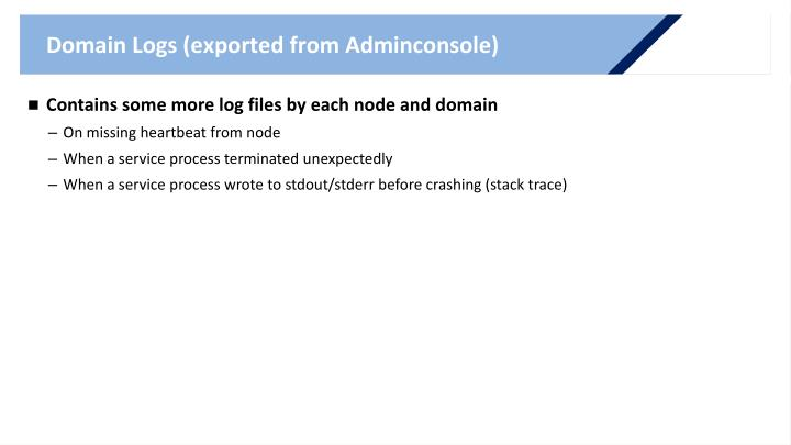Domain Logs (exported from Adminconsole)