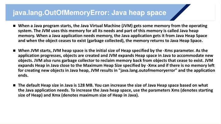 java.lang.OutOfMemoryError: Java heap space