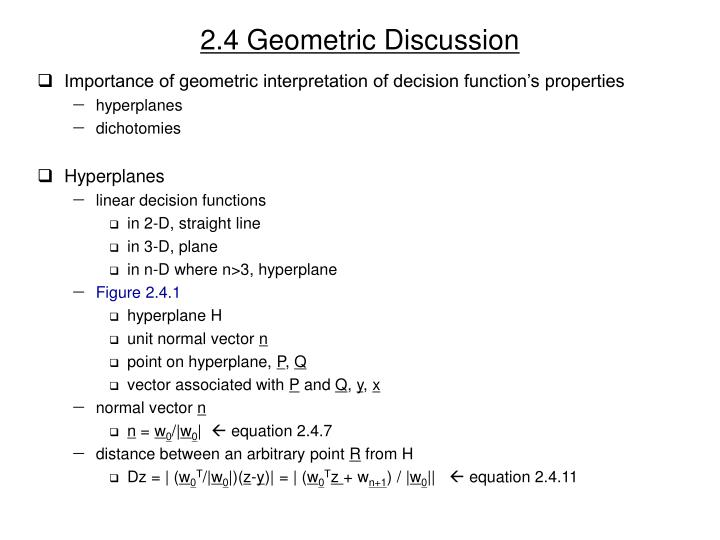 2.4 Geometric Discussion
