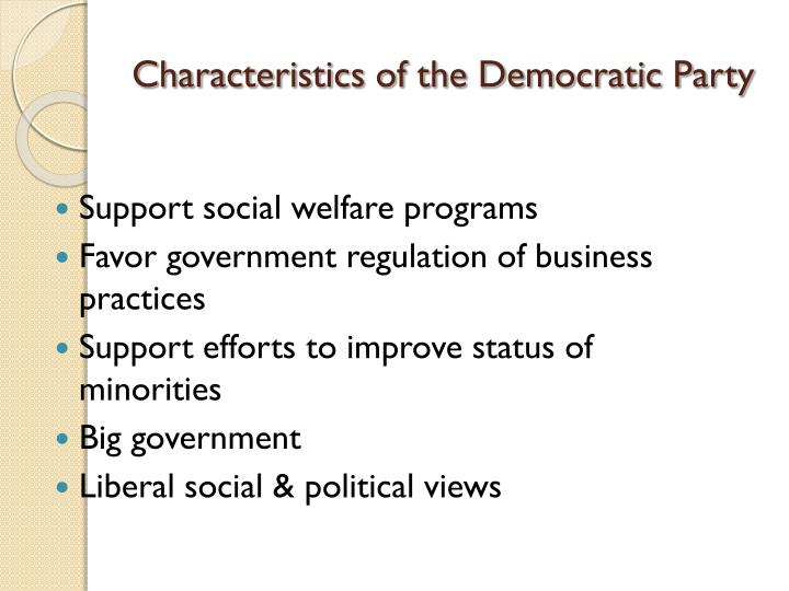 characteristics of democracy The characteristics of democracy are defined by different values, attitudes and practices that can vary from one culture to another in different parts of the world this means that democracy in the world is governed by fundamental principles and not by uniform practices most governments in the world operate under a representative democracy scheme, which means that the leader is elected by.