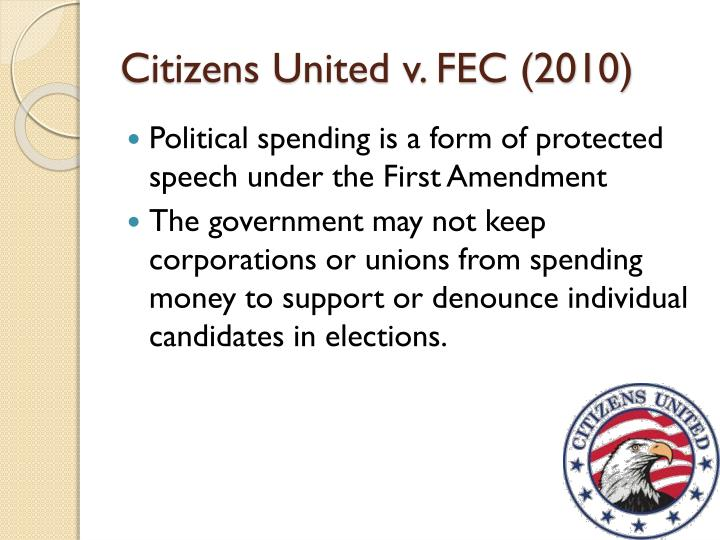 citizens united v Citizens united v federal election commission is one of the rare case that the stakes are so high on each side you can't but help be exited.
