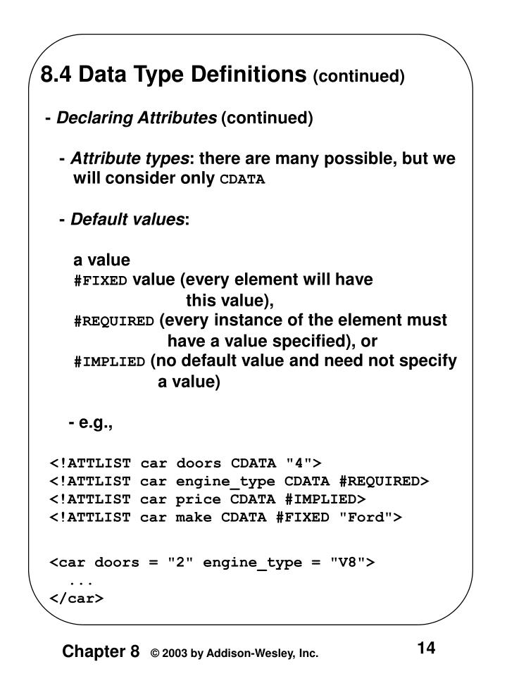 8.4 Data Type Definitions