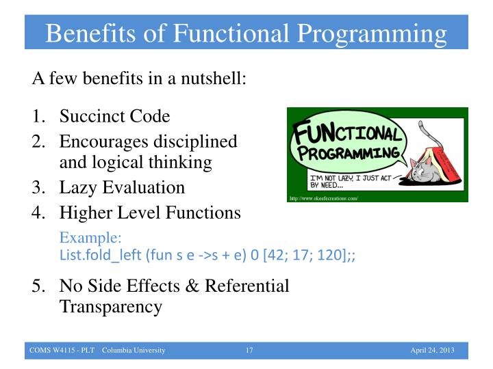 Benefits of Functional Programming