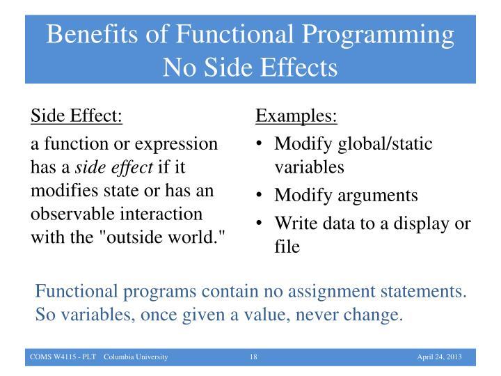 Benefits of Functional Programming