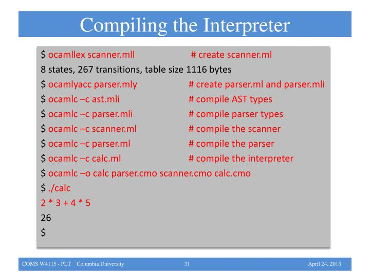 Compiling the Interpreter