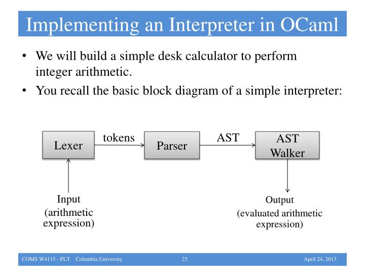 Implementing an Interpreter in OCaml