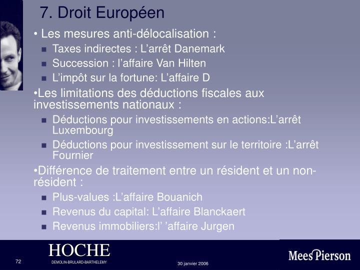 7. Droit Européen