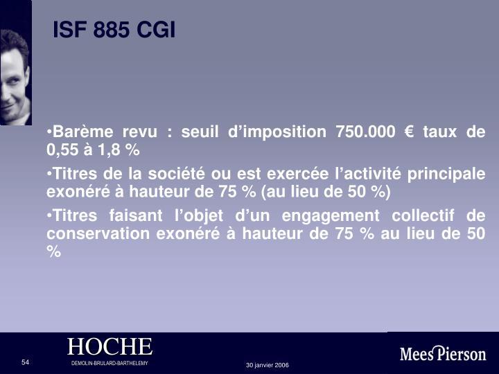 ISF 885 CGI