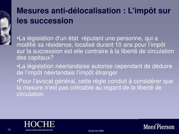 Mesures anti-délocalisation : L'impôt sur les succession