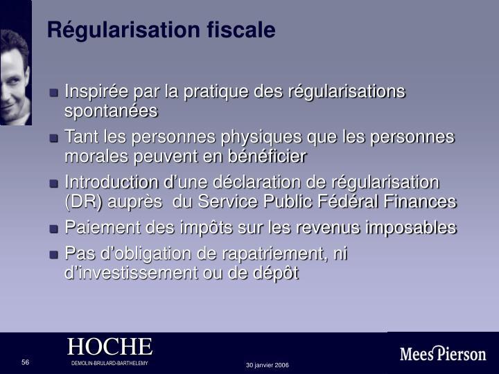 Régularisation fiscale