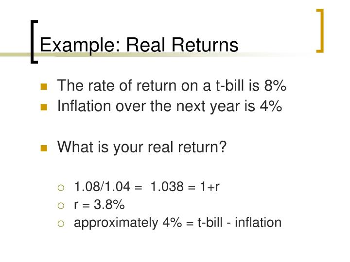 Example: Real Returns