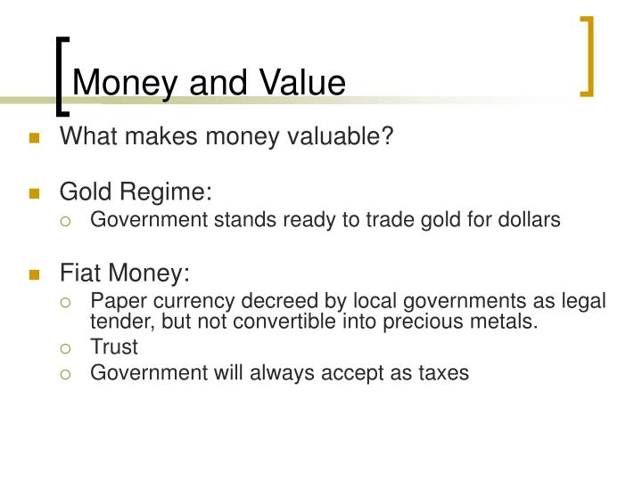 Money and Value